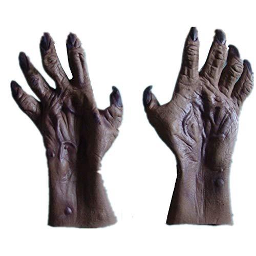 Halloween Horror Monster Devil Vampire Ghost Zombie Hands Gloves Costume Cosplay Prop Gray]()