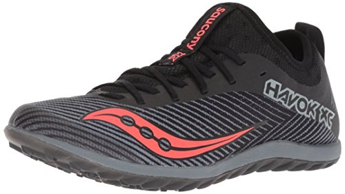 Saucony Women's Havok XC2 Flat Track Shoe, Black/Grey/Vizi-Red, 7 M US