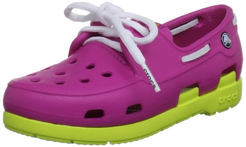 crocs 14404 Beach Line Shoe (Toddler/Little Kid),Fuchsia/Citrus,11 M US Little Kid by Crocs