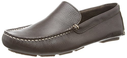 Hush Puppies Monaco_Mt - Zapatos sin cordones de cuero hombre marrón - Brown (Brown Leather)
