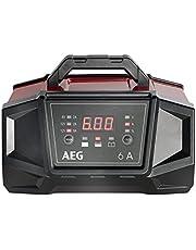 AEG 158007 ładowarka warsztatowa WM 6 A do akumulatorów 6 i 12 V, z funkcją automatycznego startu, CE, IP 20, 6 A