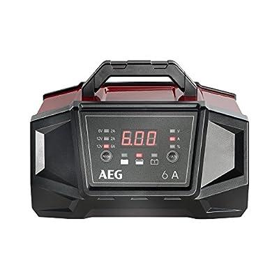 AEG 158007 Werkstatt-Ladegerät WM 6 Ampere für 6 und 12 Volt Batterien, mit Autostart-Funktion, CE, IP 20, 6 A
