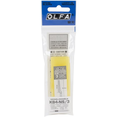 (OLFA 9169 KB4-NS/3 Narrow Saw Art Blade, 3-Pack )