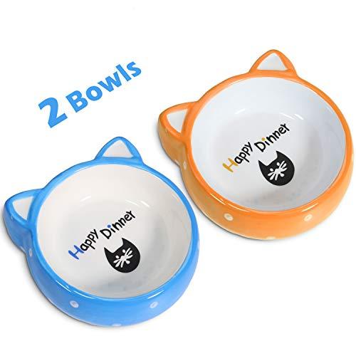 BubbleKiss Ceramic Cat Bowl 4.3