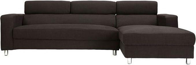 Furny Mini FHD170 Five Seater L-Shaped Sofa (Brown)