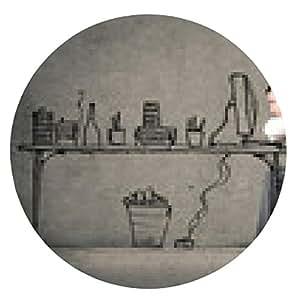 alfombrilla de ratón aburrido empleado - ronda - 20cm