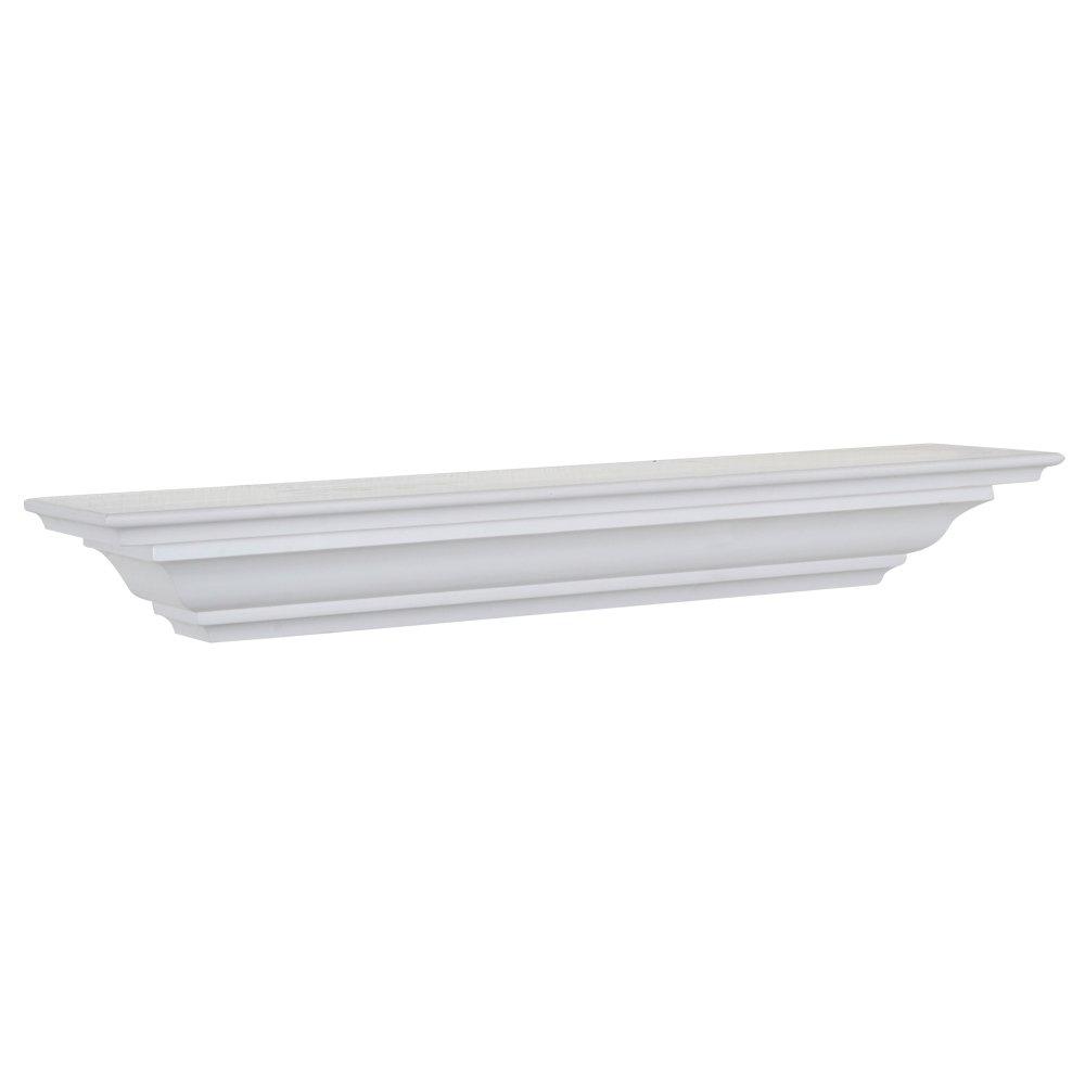 Woodland Home Decor CMS60W 60-Inch White Crown Moulding Shelf