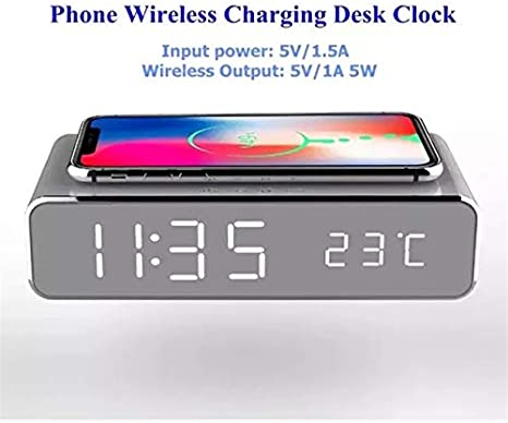 Amazon Com Fips Alarm Clock Wireless Charging Pad Electronics