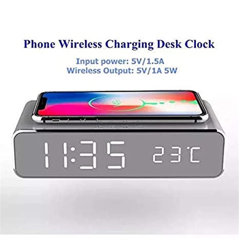 FIPS Alarm Clock Wireless Charging PAD : Electronics - Amazon com