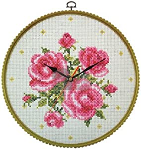 great ideas make your own cross stitch wall clock needlework kit with threads and quartz movement