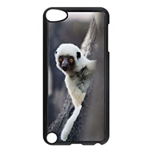QSWHXN Customized Print Lemur Pattern Hard Case for iPod Touch 5