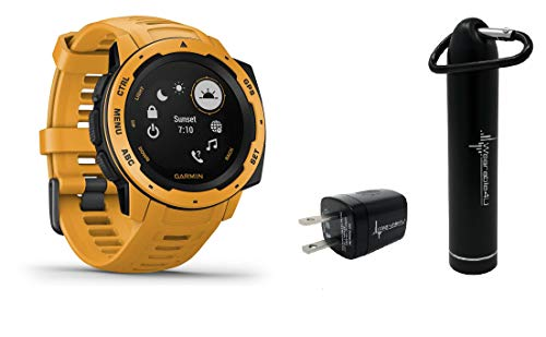 Garmin Instinct Rugged GPS Watch with Included Wearable4U Compact Power Pack Bundle ()