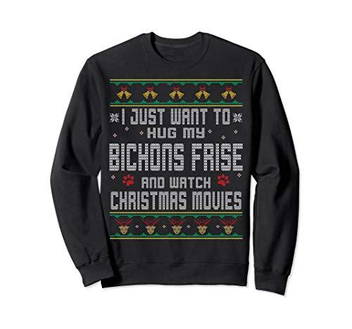 I Hug Bichons Frise Ugly Sweater Style Christmas - Sweatshirt Bichon
