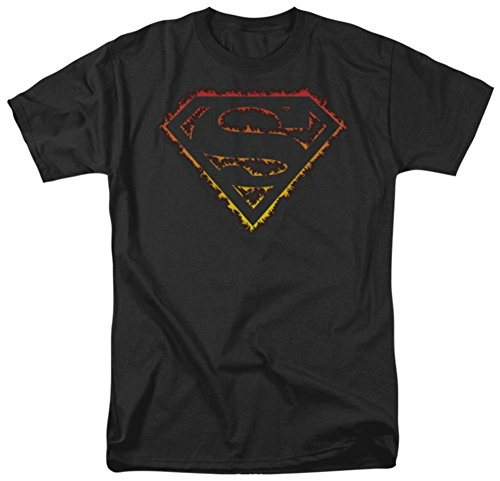 Superman Flame Outlined Logo T Shirt Size - Shirt Logo Superman Flame