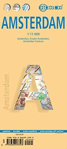 Laminated Amsterdam Map by Borch (English Edition)