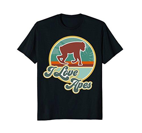 Ape Shirt, I Love Apes Apparel Great Ape Shirt Boys Men (Apes Retro Cloth)