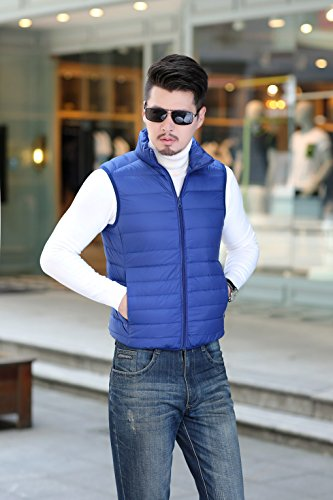 Bright Blue Down Outdoor Lightweight Men's Vest Coat Warm Quibine qF0T8t