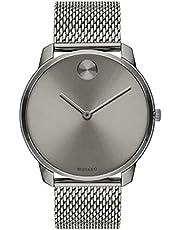 Movado Men's Swiss Quartz Watch with Stainless Steel Strap, Grey, 21 (Model: 3600599)