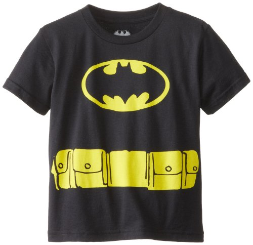 DC Comics Toddler  Batman Logo Caped T-Shirt, Black, -