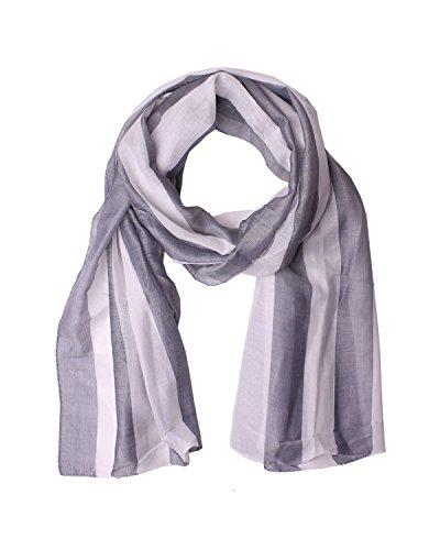 Diesel Scarves - DIESEL BLACK GOLD - Silk and Cotton Neckerchief - Scarf 70x21 in / 178x54 cm PISK - gray, One size