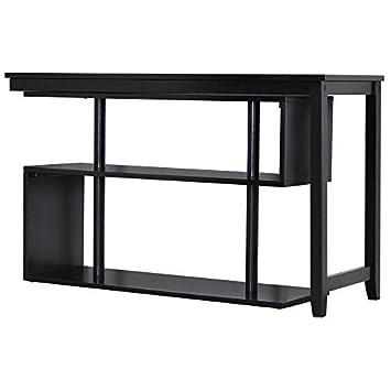DCG Stores Virginia Wood Desk Display Shelf – Pivot Top, Black Exclusive
