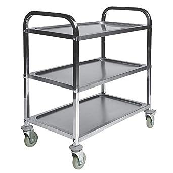 Amazon.com: CSL – 6300 Acero Inoxidable 3-Shelf – Carro de ...