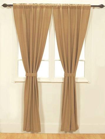 Burlap Natural Cotton Window Panels (Set of 2) 84x40 EA