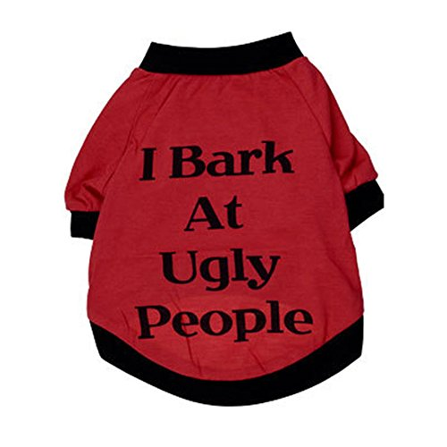 [Pets Puppies Clothes,Hemlock Christmas Dog Cat Outwear Doggy Shirt (M, Red)] (Wholesale Dog Ornaments)