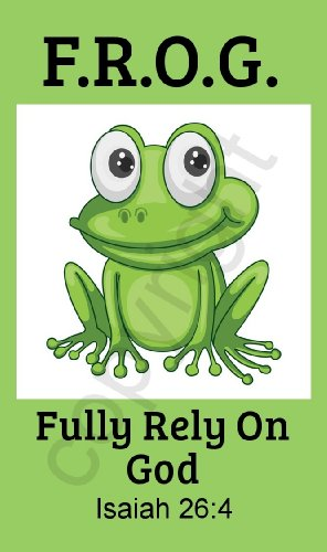 Biblebanz Green Fully Rely on God Frog F.R.O.G. Pocket Prayer Cards Isaiah 26:4 (50 Count)