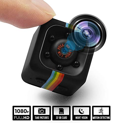 Spy Hidden Wireless Camera, Zohulu HD 1080P Mini Cop Camera As Seen On TV, Portable Small Nanny Cam with Night Vision and Motion Detection, Perfect Indoor Covert Security Camera for Home and Office