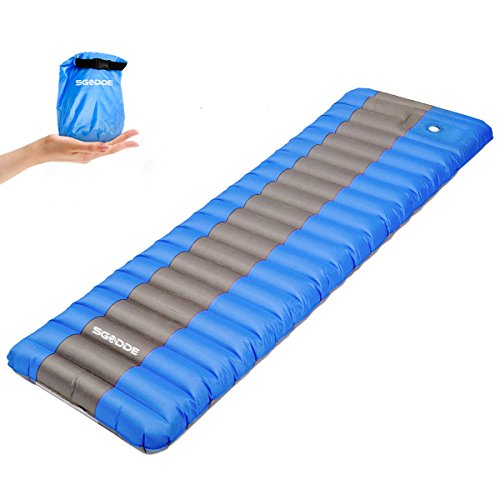 SGODDE Inflatable Sleeping Pad, Ultralight Waterproof Backpacking Air Pad, Compact and Comfortable,Great for Hiking,Camping,Picnic All Outdoor Adventures