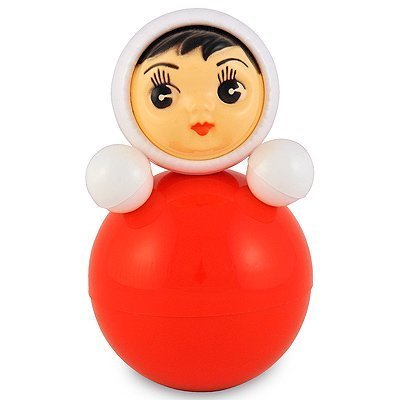 """Tumbler Toy/tilting Toy, Roly-poly Baby Toy """"Nevalyashka"""" with Sound, Small 6.25""""/16cm (001)"""