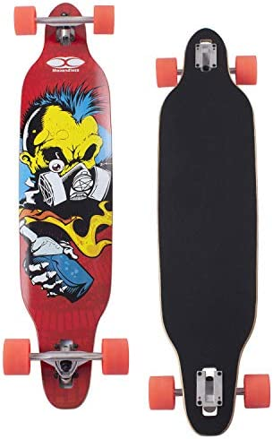 Movendless YD-0012 Longboard 42 Inches Drop Through Complete Skateboard 7 Layer Canadian Maple Wood Skate Board