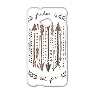 HTC One M7 Cell Phone Case White Freedom Is Not Free Lewkc