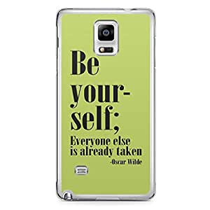 Be yourself Samsung Note 4 Transparent Edge Case