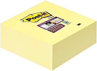 Post-it 2028-SSCY 76 x 76 mm Super Sticky Cube - Canary Yellow (Pack of 270 Sheets)