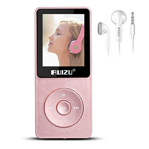 Mp3 Player for Kids,X02 8GB Portable Lossless Sound Music Player with 1.8inch Screen Support Expandable Up to 128GB TF Card(Rose-Gold)