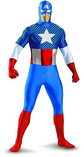 Captain American Deluxe Bodysuit Costume - Teen Large