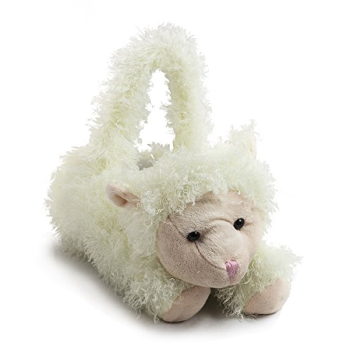 Mary White Plush Lamb Springtime Party Basket for Kids - Soft and High Quality Easter Basket for Kids - 8 Inches Long