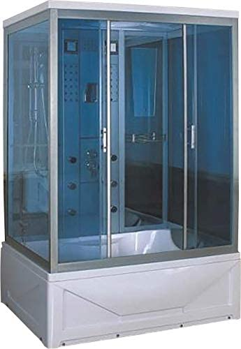 idroness mampara de Ducha de hidromasaje de baño Turco Rectangular 6 idrogetti 135 x 85 cm orquídea 07: Amazon.es: Hogar
