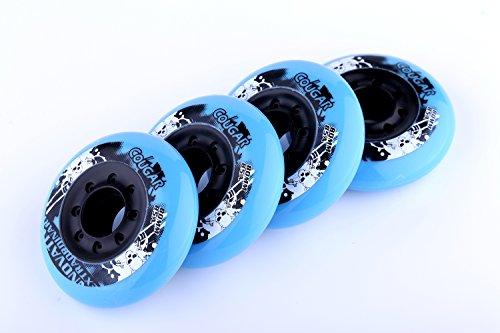 Cougar 8-pack, Inline Skate/Rollerblade Wheels (Sea Blue, 76mm)