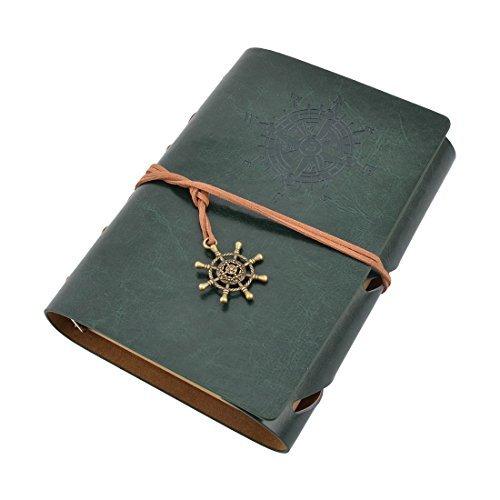 Pelle eDealMax Faux, Ufficio Scolastico Studenti, copertura Coulisse Chiusura, taccuino Della latteria Book Notepad Dark Green