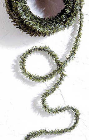 3 Sets of 25 Foot Green Pine Holiday Mini Garland- 75 Total Feet