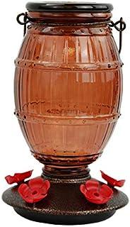 Alimentador de beija-flor de vidro com enchimento superior da Proibição 9106-2 da Perky-Pet de 9106 ml, marrom