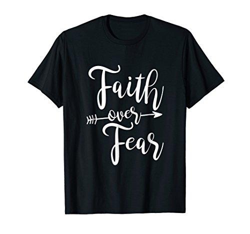 (Faith Over Fear T-Shirt Vintage Inspirational Bold Christian)