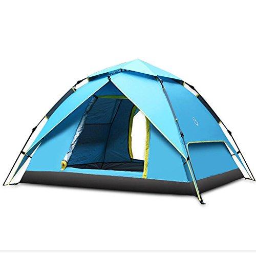 囲い下手貨物ドームテントキャンプ防水3 - 4マンドームテント屋外自動圧力テント屋外レジャーファミリーキャンプテント