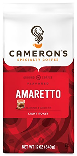 Cameron's Coffee Roasted Ground Coffee Bag, Flavored, Amaretto, 12 Ounce (Pack of 3)