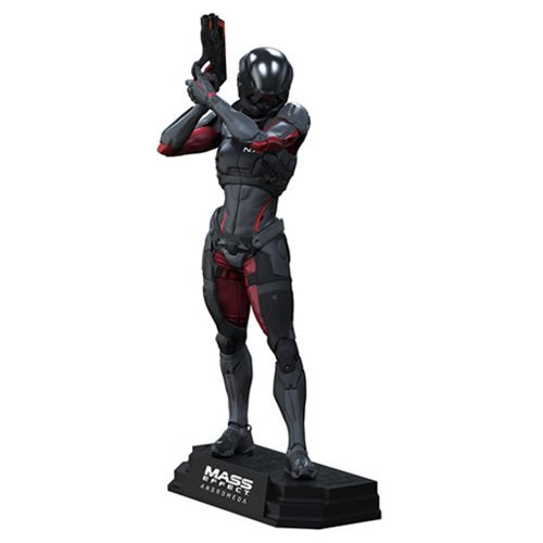 Andromeda Mass Effect Sara Ryder 7-Inch Color Tops Green Wave #22 Action Figure (Best Assault Rifle In Mass Effect 3)