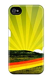 New Arrival Cover Case With Nice Design For Iphone 4/4s- Abstract Cheerful Nature