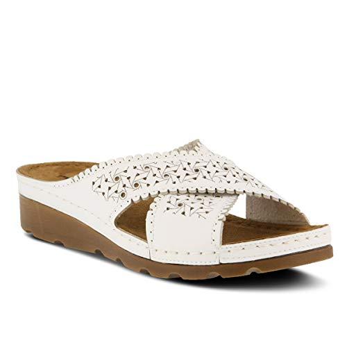 Flexus by Spring Step Women's Passat Slide Sandal, White, 40 M EU (US 9 US)